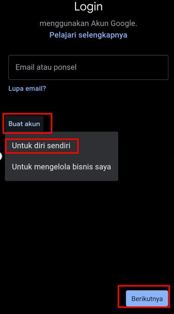 cara membuat dua email di hp